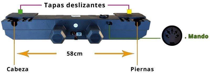 Detalle motor para cama articulada