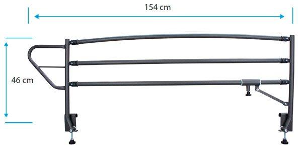 Medidas barandillas plegables 3 barras