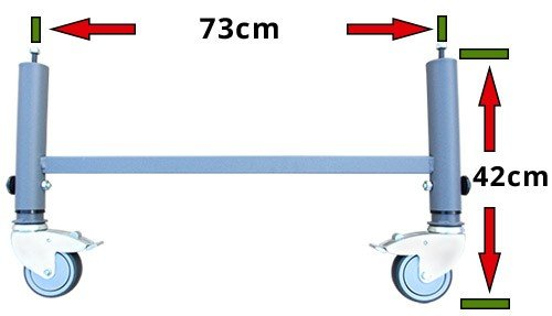 Medidas patas con ruedas