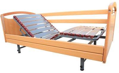 Cama articulada con patas Celeste plus madera