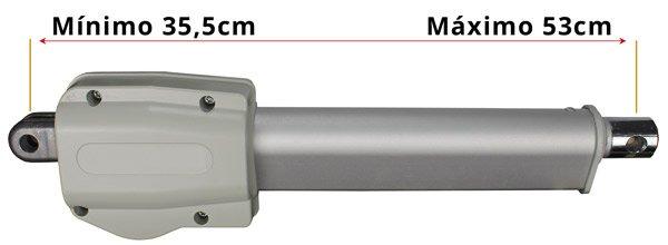 Medidas Motor Eléctrico para Carro Elevador